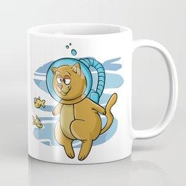 Cat diving Coffee Mug