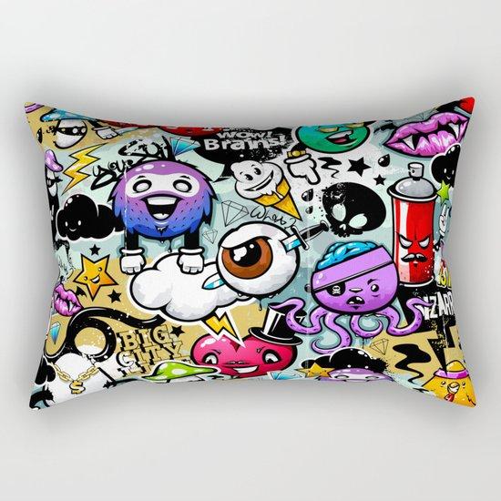 graffiti fun Rectangular Pillow