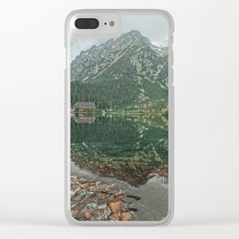 Mountain hut Clear iPhone Case