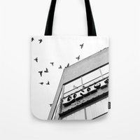 broadway Tote Bags featuring Broadway Birds by XtinaYo