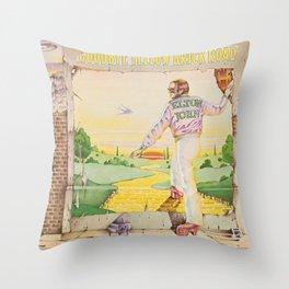 John - Goodbye Yellow Brick Road by Elton Throw Pillow
