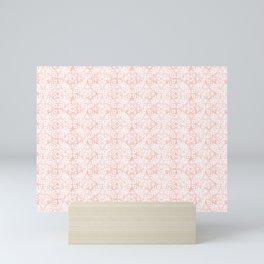 modern moroccan - distressed pink Mini Art Print