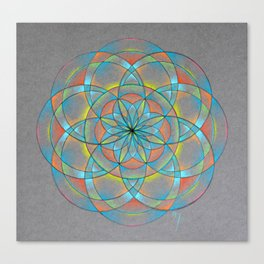 Seed of Life Mandala Canvas Print