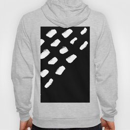 Black and White Abstract Artistic Brush Strokes Hoody