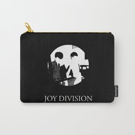 JOY DIVISION - Music   Goth   Indie   Wave   Retro   Vintage   Vector   Black and White   Vinyl  Carry-All Pouch