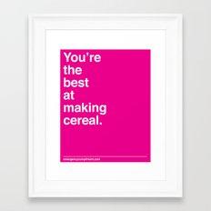 Making Cereal Framed Art Print