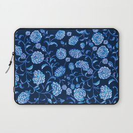 Blue & White Florals by Fanitsa Petrou Laptop Sleeve
