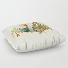 Critters: Summer Gardening Floor Pillow