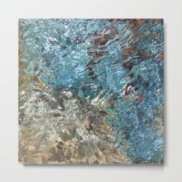 Blue Summer Ocean Beach Water Metal Print