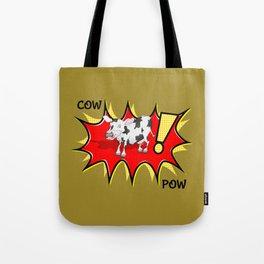 Cow in a KAPOW starburst Tote Bag