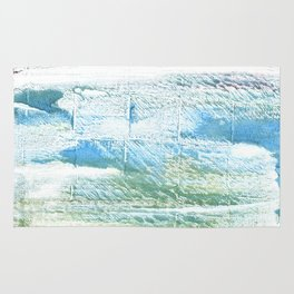 Mint cream abstract watercolor Rug