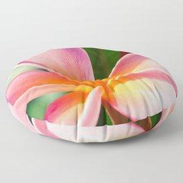 Pua Melia ke Aloha Pink Tropical Plumeria Maui Hawaii Floor Pillow