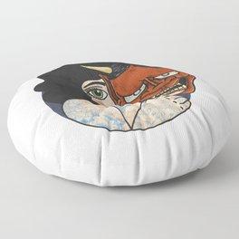 Hannya Masked Floor Pillow