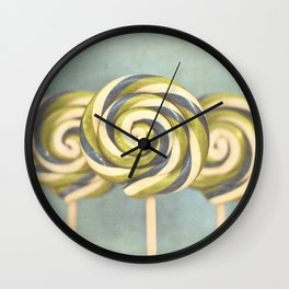 3 popsicles Wall Clock