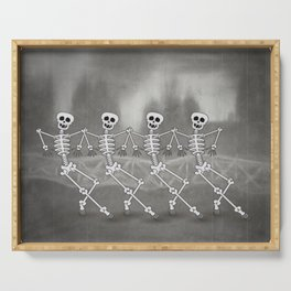 Dancing skeletons I Serving Tray