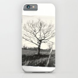 Emulsion Lift 4- Countryside Trees iPhone Case