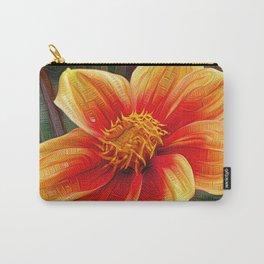 Orange Flower, DeepDream style Carry-All Pouch