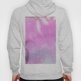 Modern neon pink lilac white abstract watercolor paint Hoody