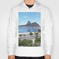 rio de janeiro Hoodies featuring Rio de Janeiro Landscape by Fernando Macedo