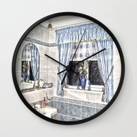 bathroom Wall Clocks featuring Bathroom Image by Valerie Paterson