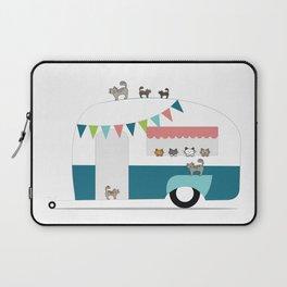 Happy Camper Kitties Laptop Sleeve