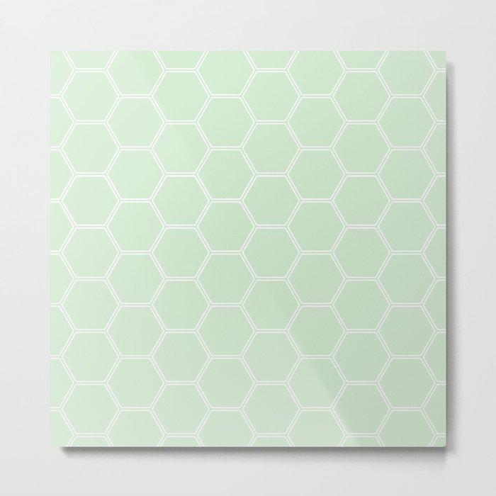 Honeycomb Light Green #273 Metal Print