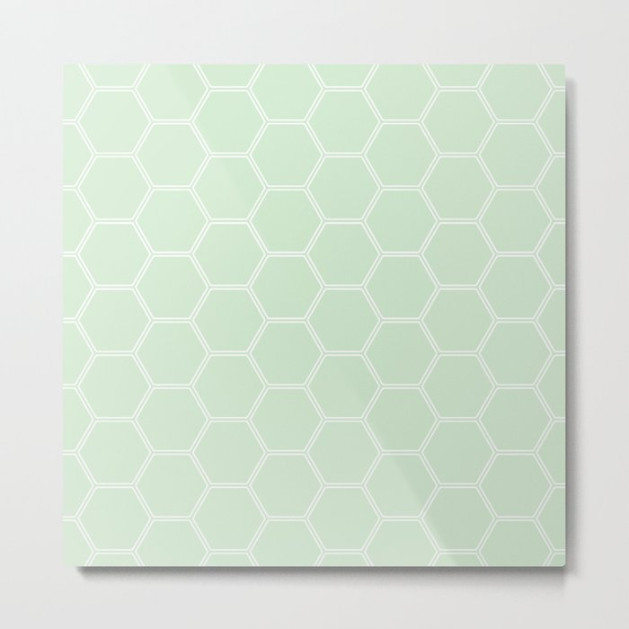 Honeycomb - Light Green #273 Metal Print