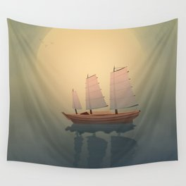 A Ship That Sails Away Wall Tapestry