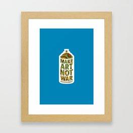 Make Art Not War (African pattern blue) Framed Art Print