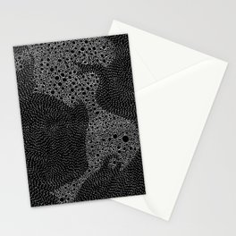 the mole's hyperacidity | black Stationery Cards