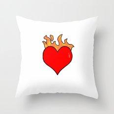heart in fire Throw Pillow