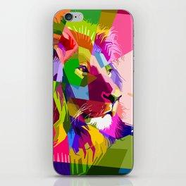 Colorful Lion Head (Illustration) iPhone Skin