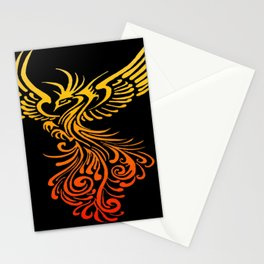 Rising From The Ashes Detailed Phoenix Flame Ombre Stationery Cards