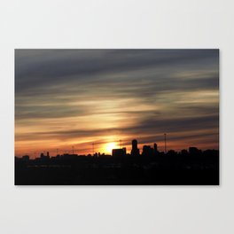 Sunset Toronto Canvas Print