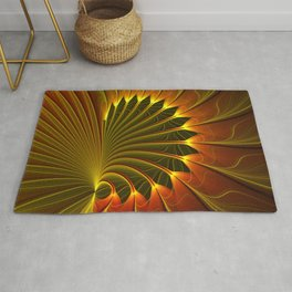 The Closed Door, Abstract Fractal Art Rug
