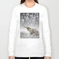 marianna Long Sleeve T-shirts featuring The Simple Things Are the Most Extraordinary (Elephant-Size Dreams) by soaring anchor designs