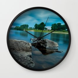 River Landscape Photography - The Banks of the Tay, Scotland Wall Clock