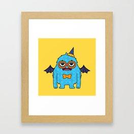 Monsticky Sky-blue monster Framed Art Print