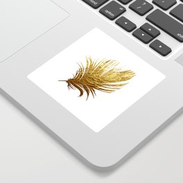 Golden Feather Sticker