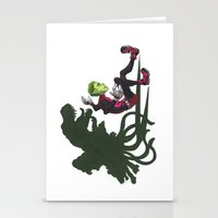 teen titans Stationery Cards featuring Teen Titans: Beast Boy by JaDis