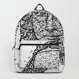 MONA LISA after LEONARDO DA VINCI - ink version Backpack
