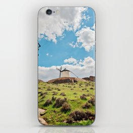 Traditional white windmills iPhone Skin