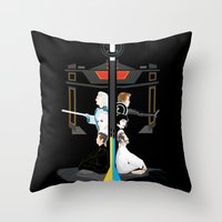 tron Throw Pillows featuring Tron by Sara E. Snodgrass