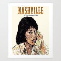 nashville Art Prints featuring Nashville by AdrockHoward