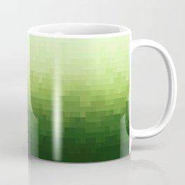 Gradient Pixel Green Coffee Mug