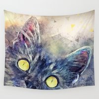 kitty Wall Tapestries featuring Kitty by jbjart