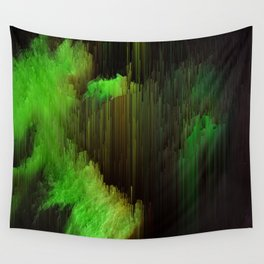 Ectoplasm - Abstract Glitchy Pixel Art Wall Tapestry