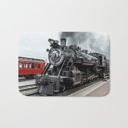 Strasburg Railroad Vintage Steam Locomotive Baldwin Train Engine Pennsylvania Bath Mat