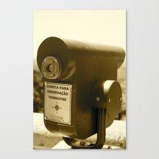 Spyglass to land observation Canvas Print