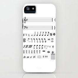 Musical Notation iPhone Case